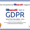 dFakto is one of the top10 GDPR solution providers